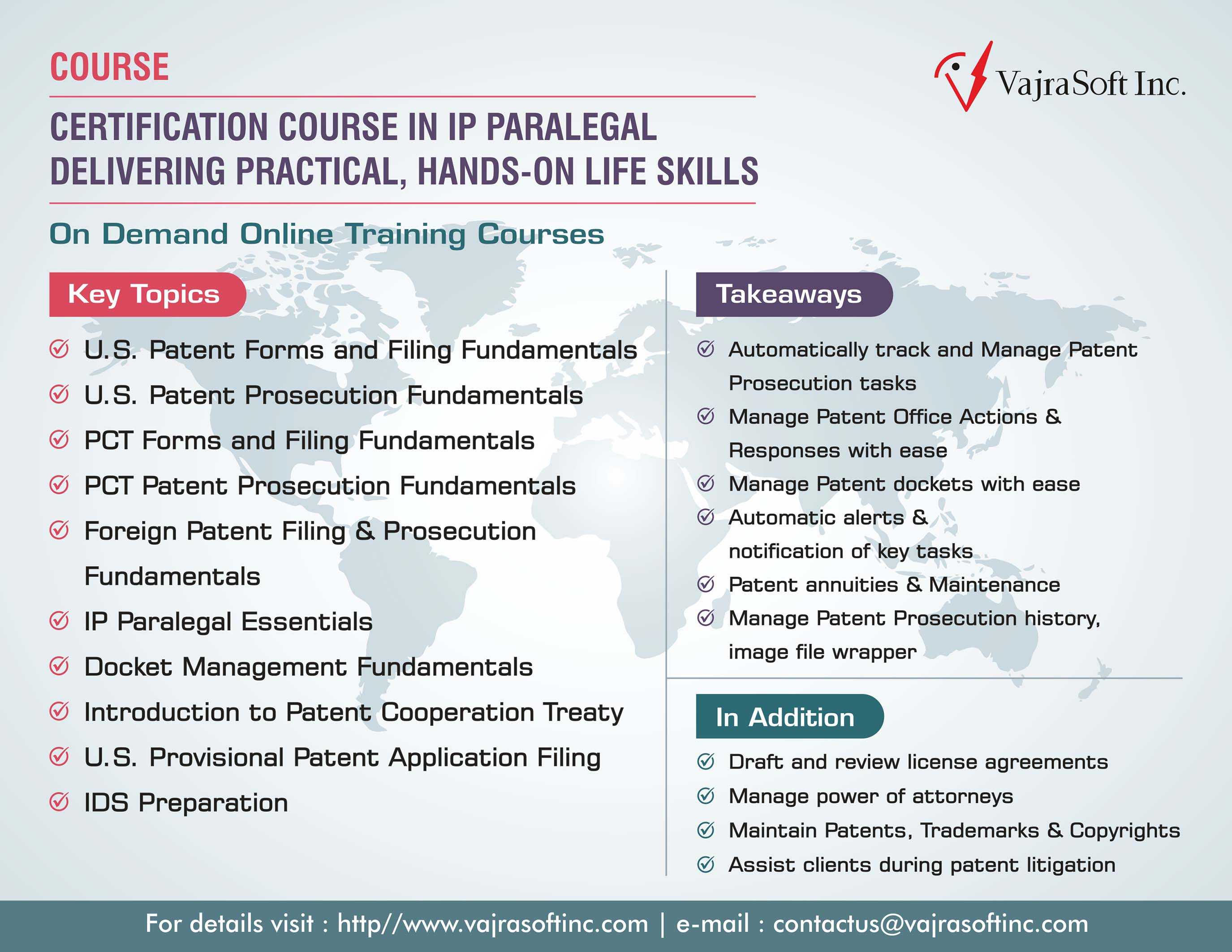Certificate course in ip paralegal ip paralegal course xflitez Image collections